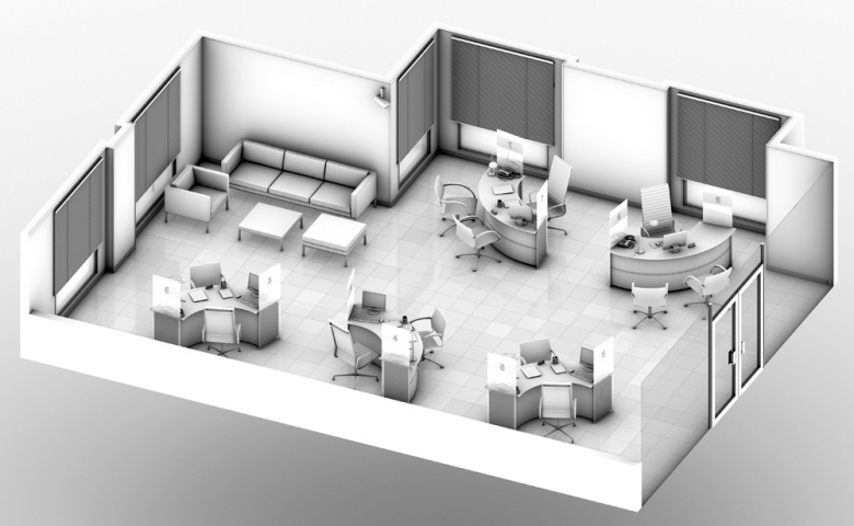 C mo renovar oficinas sin grandes obras equipamiento for Planos de oficinas administrativas