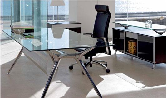 Mobiliario de oficina para despachos profesionales equipamiento integral de oficinas - Mesas de despacho de cristal ...