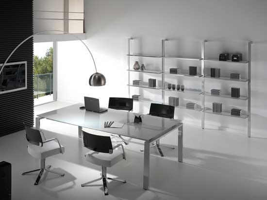 Mesas de oficina concepto el dise o la elegancia y el for Concepto de oficina
