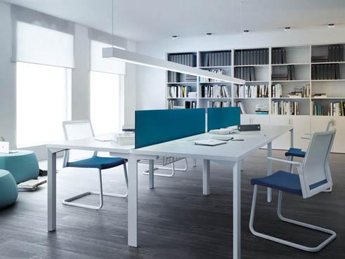 Mesas de oficina logos un modelo nico para espacios for Separadores de oficina