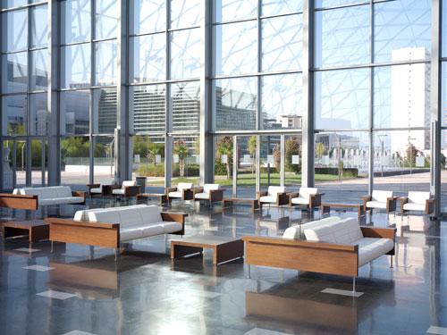 salas de espera modernas para complementar la decoraci u00f3n de oficinas