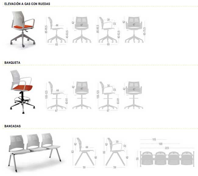 Un estilo en com n distintas soluciones en siller a de for Tipos de sillas de oficina