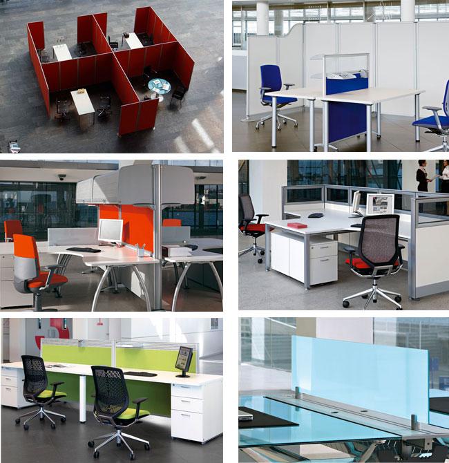 Separadores y divisorias para la oficina equipamiento for Separadores de oficina