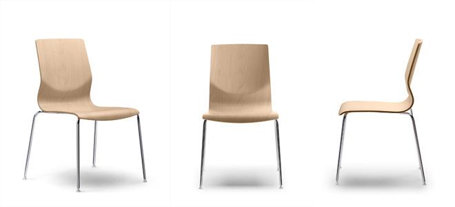 Sillas de oficina Curvae, una solución en madera para todo tipo de ...