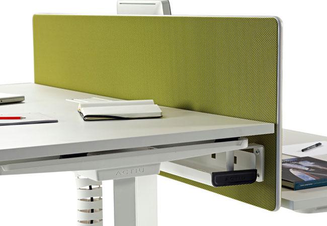 Los separadores fonoabsorbentes para mesas se confirman for Separadores de oficina