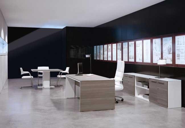Ambientes ejecutivos en la oficina eqin estudio for Oficinas elegantes y modernas