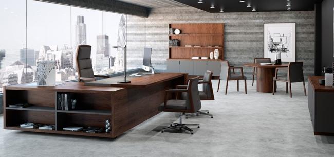 El despacho de oficina freeport revoluciona las l neas del for Mobiliario para despachos