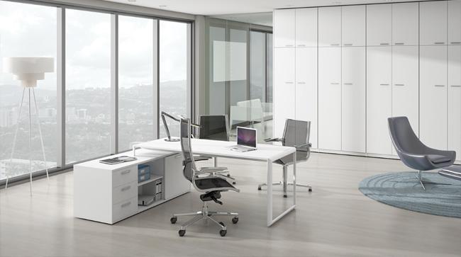 Este mes proponemos la mesa de oficina meta para espacios for Oficinas linea madrid