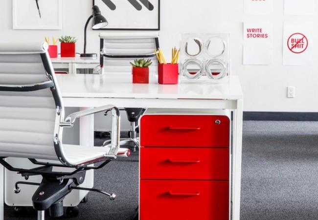 Rojo Y Blanco Para Sus Nuevas Oficinas Ideas De Decoracion Eqin