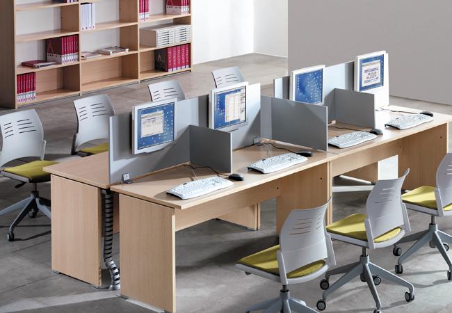 Mesas de oficina optima un mobiliario operativo sencillo for Fabricantes de mobiliario de oficina