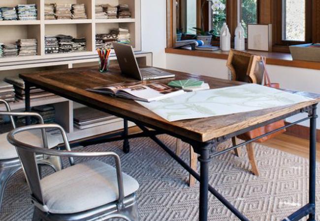 Trucos para reformar oficinas de estilo industrial y Mesas industriales vintage