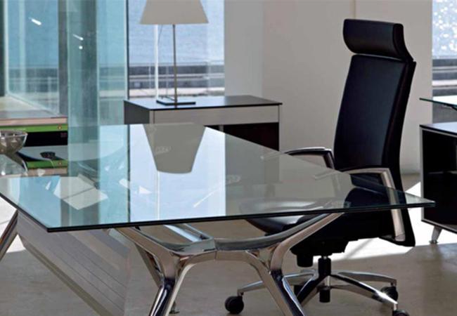 Mesas de oficina de cristal - Solida Equipamiento Integral