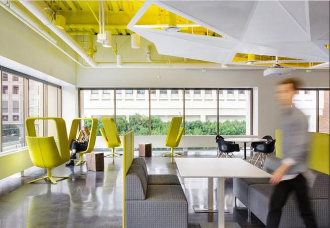 Gu a de los colores de oficinas m s trendy y con for Oficinas modernas 2016