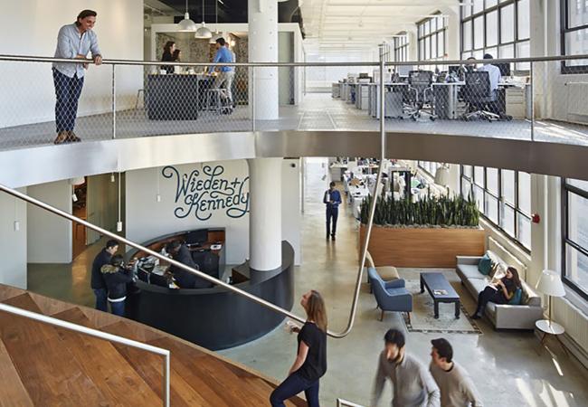 Interiorismo oficinas de publicidad Wieden + Kennedy