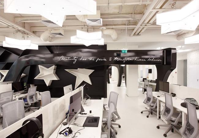 Zona de trabajo oficinas Leo Burnett