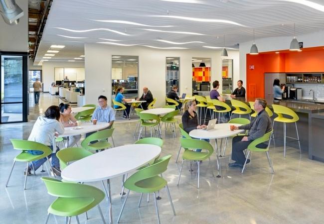 Cafeterias En La Oficina Eqin Estudio Mobiliario Y Reformas De Oficina - Diseo-cafeterias-modernas