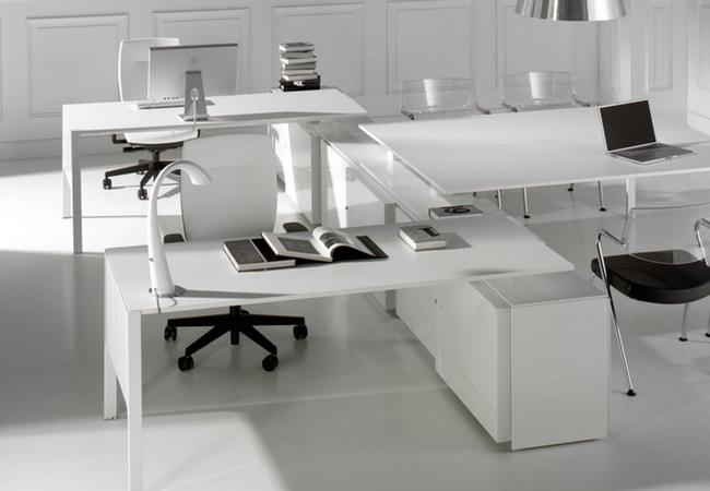 Mesas De Oficina En Blanco Eqin Estudio Mobiliario Y Reformas De