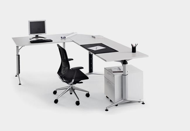 mesa de oficina regulable en altura trama