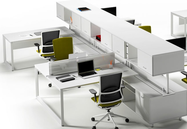 Soluciones de mobiliario de oficina para equipos de for Mesas para oficinas modernas