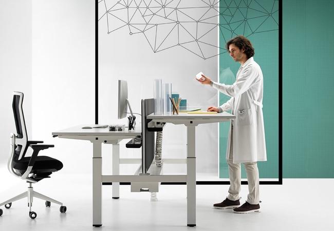 mesas de oficina para grupos de trabajo