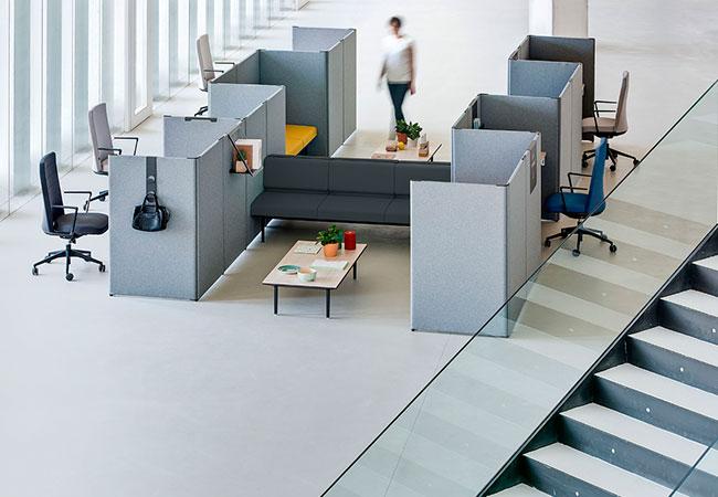 Estructura tu espacio de trabajo con link de actiu eqin for Mobiliario modular para oficina