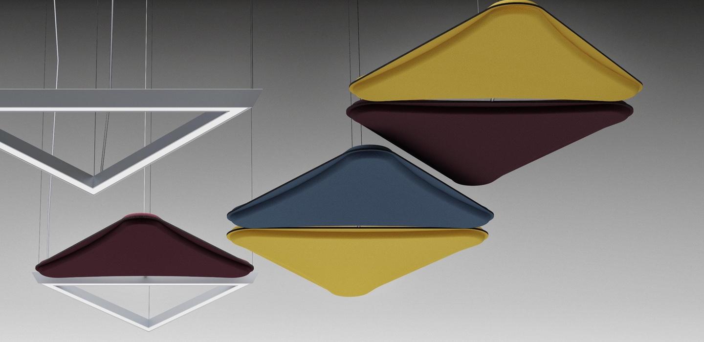 paneles fonoabsorventes e iluminación