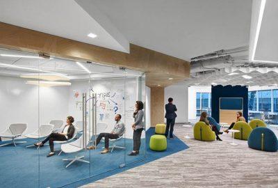 Le mostramos el diseño de oficina de Noblis