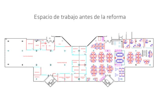 espacio de trabajo antes de la reforma