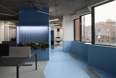 El color azul en la oficina