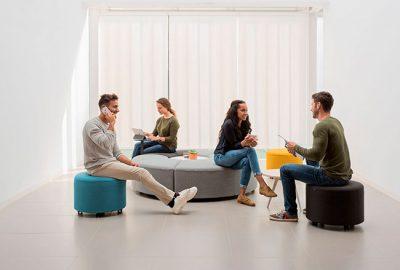 Bend, soft seating dinámico