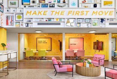 Descubra el diseño de los 60 de la oficina Bumble