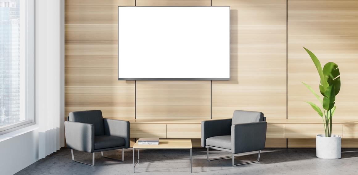 televisores y pantallas en clínicas dentales