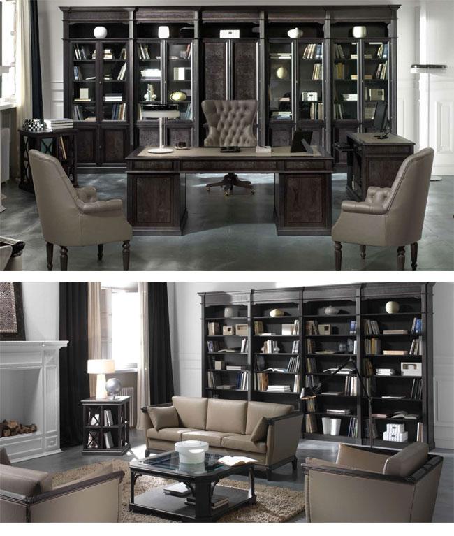 Despachos cl sicos elegancia en los detalles eqin for Decoracion oficinas y despachos