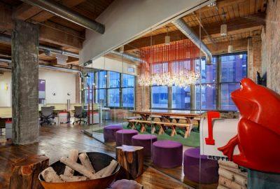 El diseño de oficinas de Red Frog: diversión al máximo