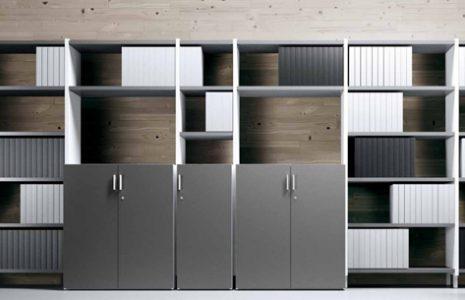 Armarios de oficina metálicos y estantería modulares