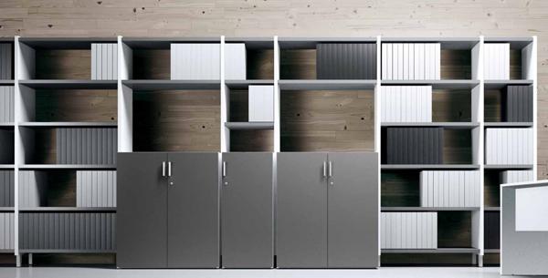 Armarios de oficina met licos y estanter a modulares equipamiento integral de oficinas - Armarios de oficina ...