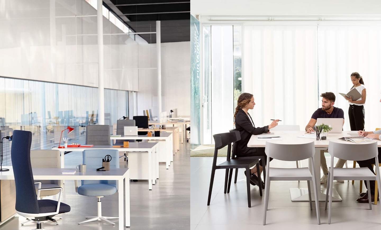 Estores y cortinas eqin estudio mobiliario y reformas de for Estores para oficinas