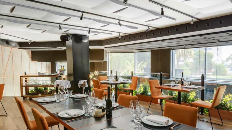 iluminacion y acustica restaurante