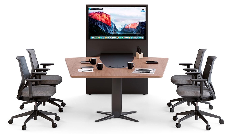 mesa de reunión videoconferencias