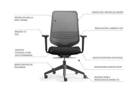 Sillas de oficina ergonómicas: 5 modelos para tu oficina