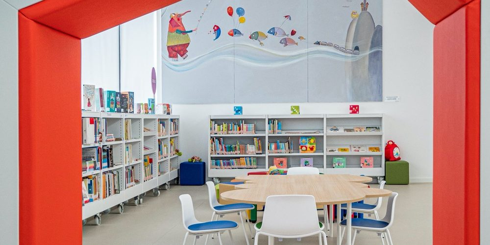mobiliario infantil biblioteca