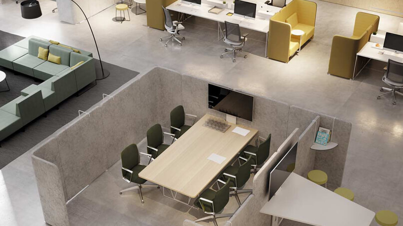 interior oficina nave