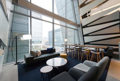 Paseo por unas oficinas en Seúl