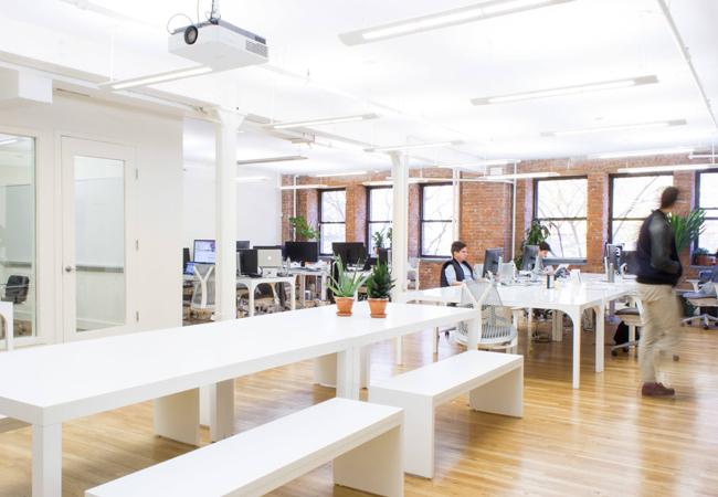 Luz en espacios de trabajo productivos
