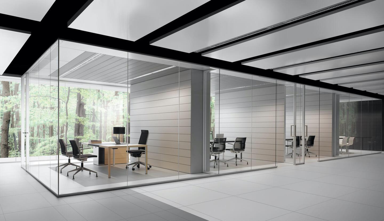 mamparas de oficina para separar despachos