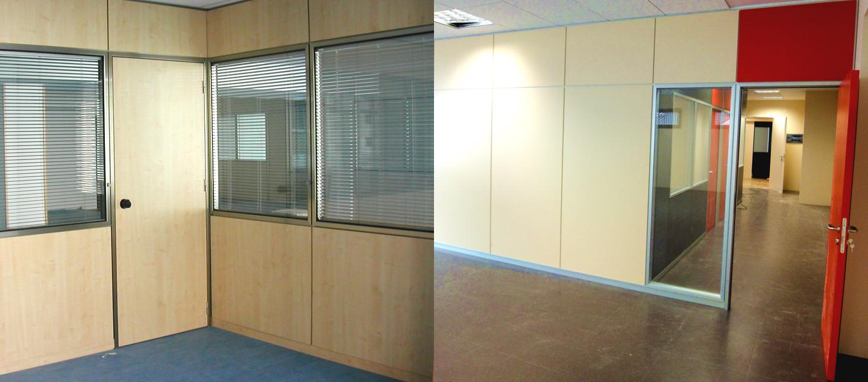 Mamparas de cristal para separar ambientes for Mamparas de oficina