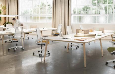 Mesas de oficina estilo nórdico: Mesa Timber