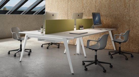 Mesa operativa de oficina Trim