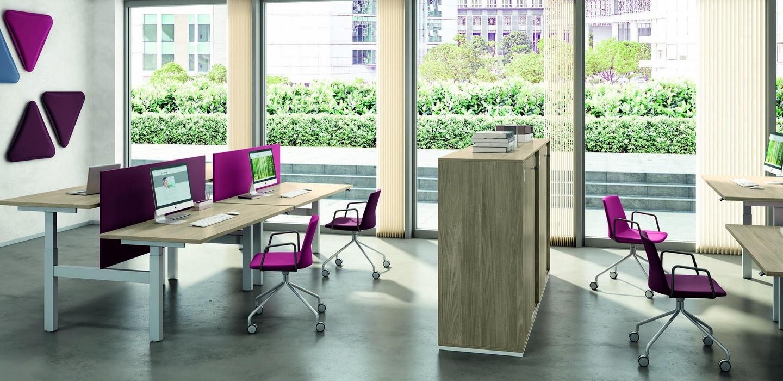 mobiliario de separación mesa up