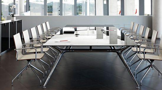 Mesa de reuni n equipamiento integral de oficinas for Mesas de reuniones para oficinas
